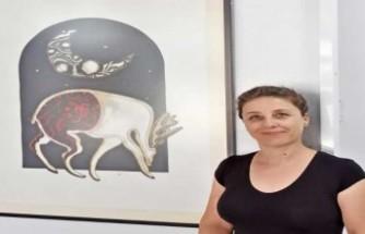 18 eserden oluşan baskı resim sergisi, Dr. Suat Günsel Girne İlkokulu Sergi Salonunda ziyarete açıldı..