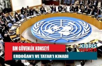BM Güvenlik Konseyi Erdoğan'ı ve Tatar'ı kınadı