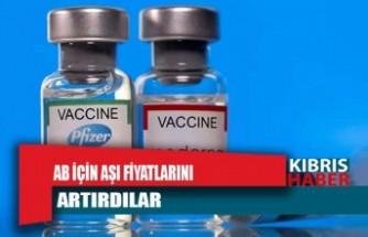AB için aşı fiyatlarını artırdılar
