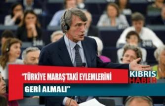 AP Başkanı David Sassoli: Türkiye Maraş'taki eylemlerini geri almalı