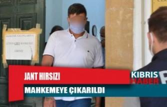Jant hırsızı mahkemeye çıkarıldı