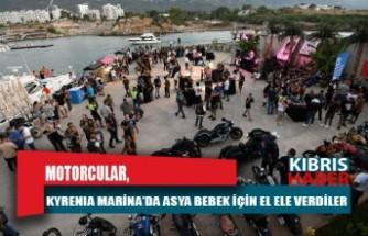 Motorcular, Kyrenia Marina'da Asya bebek için el ele verdiler