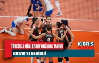 Türkiye A Milli Kadın Voleybol Takımı, Rusya'yı devirdi