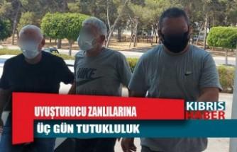 Uyuşturucu zanlılarına üç gün tutukluluk