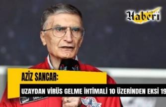 Aziz Sancar: Uzaydan virüs gelme ihtimali 10 üzerinden eksi 19