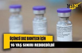 FDA: 16 yaş ve üzerine üçüncü doz yok