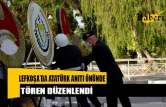 Gaziler Günü Nedeniyle Lefkoşa'da Atatürk Anıtı Önünde Tören Düzenlendi