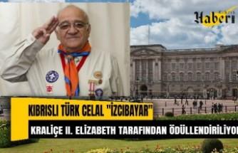 """Kıbrıslı Türk Celal """"İzcibayar"""", Kraliçe II. Elizabeth tarafından ödüllendiriliyor"""