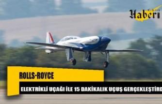 Rolls-Royce, elektrikli uçağı ile önemli bir aşama kaydetti