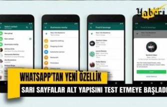 """WhatsApp, """"sarı sayfalar"""" altyapısını test etmeye başladı"""