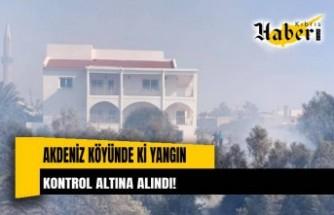 Akdeniz köyünde çıkan yangın, kontrol altına alındı