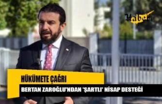 Bertan Zaroğlu'ndan 'şartlı' nisap desteği