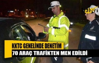 Bir gecede 624 araç sürücüsüne ceza kesildi