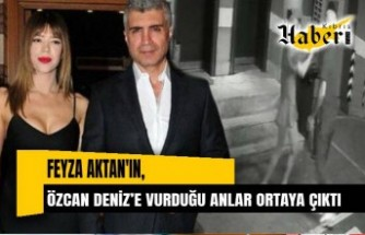 Feyza Aktan ile Özcan Deniz'in kavgası kamerada