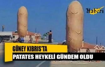 Güney Kıbrıs'ta Patates Heykeli Gündem Oldu