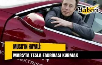 Musk'ın hayali: Mars'ta Tesla fabrikası kurmak