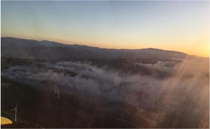 Limasol - Baf sınırındaki yangın kontrol altına alınamıyor