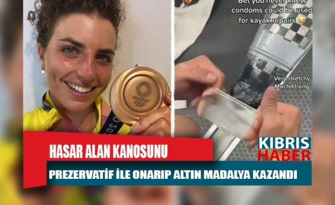 Hasar alan kanosunu prezervatif ile onarıp altın madalya kazandı
