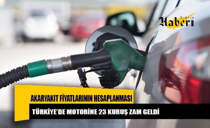 Türkiye'de motorine 23 kuruş zam