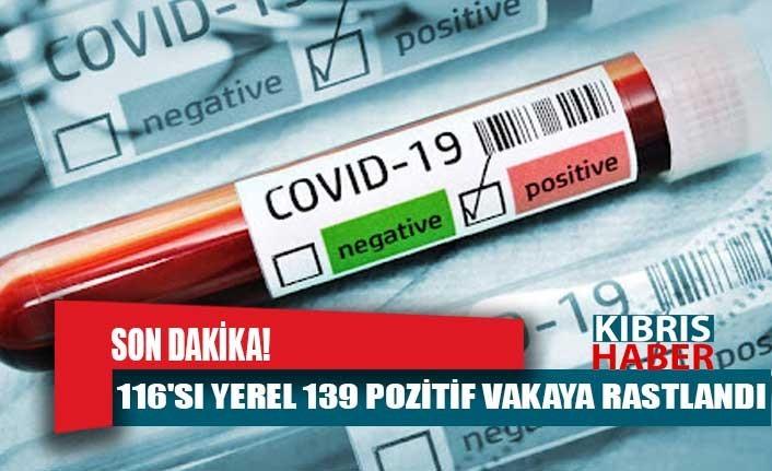 Son Dakika! 116'sı yerel 139 pozitif vakaya rastlandı